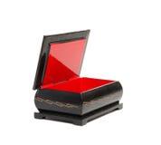 красный цвет черного ларца anciend старый Стоковое Изображение RF