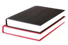 красный цвет черной книги Стоковое Изображение RF