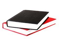 красный цвет черной книги Стоковое Изображение