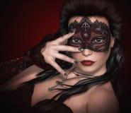 Красный цвет & чернота иллюстрация штока