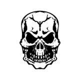 Красный цвет черноты татуировки черепа белый Стоковые Изображения