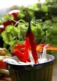 красный цвет чилей Стоковое Фото