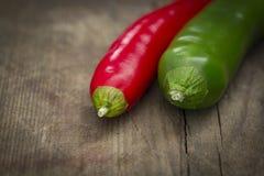 красный цвет чилей зеленый Стоковое фото RF