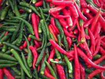 красный цвет чилей зеленый Стоковая Фотография RF
