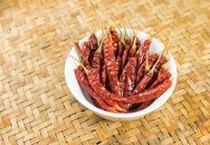 красный цвет чилей сухой Стоковое Фото