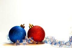 красный цвет шарика голубой Стоковое Изображение