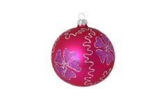 красный цвет шарика изолированный рождеством Стоковые Фотографии RF