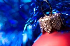 красный цвет шарика красивейший голубой Стоковая Фотография