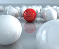 красный цвет шарика Стоковые Изображения