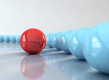 красный цвет шарика Стоковые Фотографии RF
