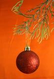 красный цвет шарика Стоковое Фото