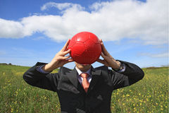 красный цвет шарика Стоковое Изображение