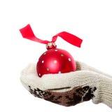 красный цвет шарика Стоковые Фото