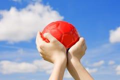 красный цвет шарика Стоковое фото RF