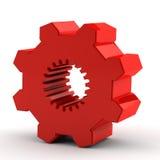 красный цвет шестерни одного Стоковая Фотография RF
