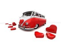 красный цвет шины Стоковые Изображения RF