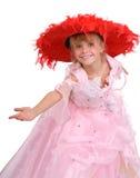 красный цвет шлема девушки Стоковые Фото