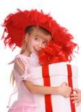 красный цвет шлема девушки Стоковые Изображения