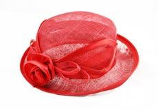 красный цвет шлема Стоковая Фотография