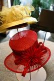 красный цвет шлема Стоковое Фото