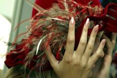 красный цвет шлема Стоковое Изображение