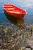 красный цвет шлюпки Стоковое фото RF