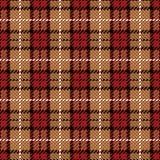 красный цвет шотландки пиксела золота Стоковые Фотографии RF