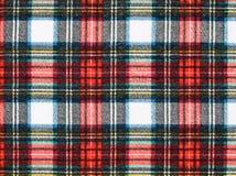 красный цвет шотландки ткани предпосылки голубой Стоковые Фотографии RF