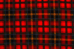 красный цвет шотландки 2 предпосылок Стоковая Фотография RF