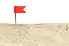 красный цвет штыря карты флага старый Стоковые Фотографии RF
