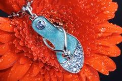 красный цвет ювелирных изделий цветка Стоковое Изображение RF