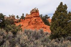 красный цвет Юта каньона Стоковая Фотография