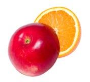 красный цвет яблока сочный померанцовый Стоковое Фото