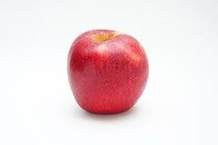 Красный цвет яблока на белом стиле предпосылки Стоковое Изображение