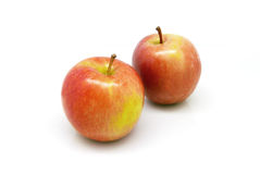 красный цвет 2 яблок Стоковое Изображение