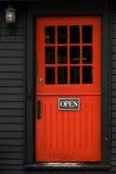 красный цвет двери Стоковое фото RF