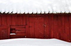красный цвет дома Стоковое Фото