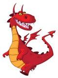 красный цвет дракона Стоковые Изображения