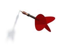 красный цвет дротика Стоковые Фото