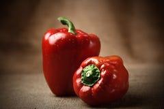 красный цвет 2 перца колокола свежий Стоковое фото RF