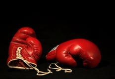 красный цвет 2 перчаток бокса Стоковые Изображения RF