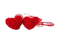 красный цвет 2 сердец Стоковая Фотография RF