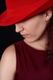 красный цвет 2 девушок Стоковая Фотография RF