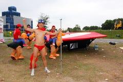 красный цвет 2010 Hong Kong flugtag быка Стоковые Фото