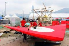 красный цвет 2010 Hong Kong flugtag быка Стоковые Фотографии RF