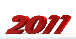 красный цвет 2011 3d Стоковое Изображение