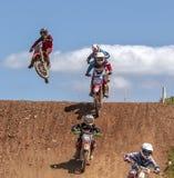 красный цвет 2012 соотечественников motocross быка профессиональный Стоковые Фотографии RF