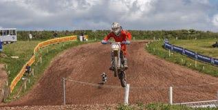 красный цвет 2012 соотечественников motocross быка профессиональный Стоковое фото RF