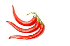 красный цвет 3 перцев chili Стоковое Фото