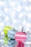 красный цвет 3 рождества шарика Стоковое Изображение